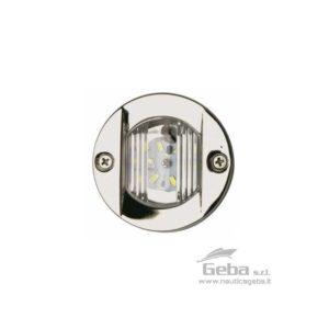 Fanale di poppa in Acciaio Inox LED 12V a norma CE. Diametro interno 50mm - esterno 75mm.