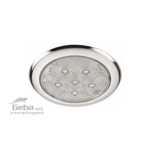 Plafoniere LED 12V a basso profilo in Acciaio Inox. Consumo ridotto e massima durata. Luce bianca calda 3000 K°.