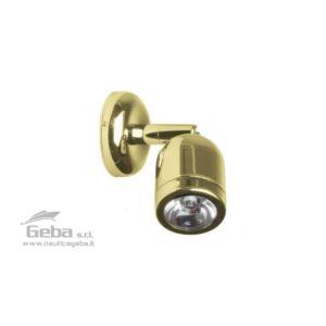 Spot orientabili LED da 3W in Ottone cromato e lucido con interruttore.