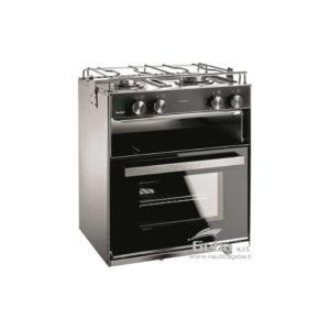 Cucina a gas con 2 fuochi e forno da 28 Lt