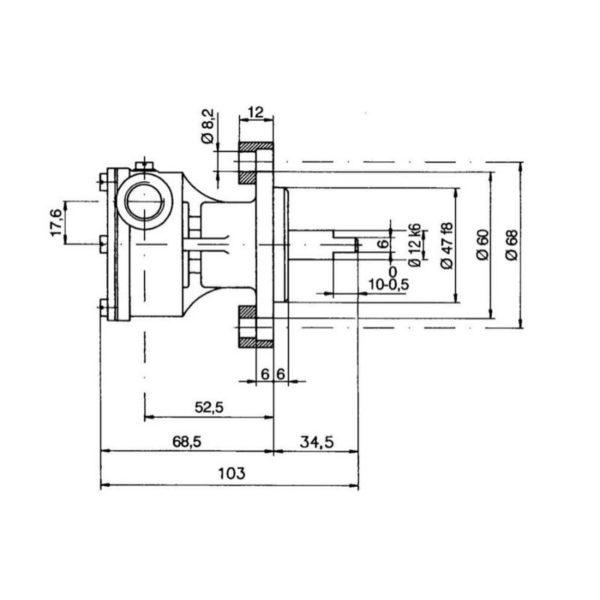 scheda tecnica montaggio pompa flangiata ancor st 137 raffreddamento motori marini
