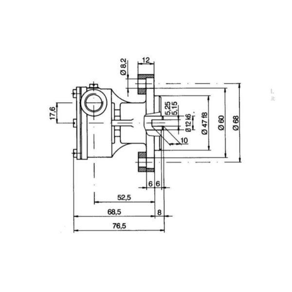 scheda tecnica montaggio pompa flangiata ancor st 138 raffreddamento motori marini Volvo Penta AQ-BB-MB-MD-2000 Lombardini Ldw Aifo