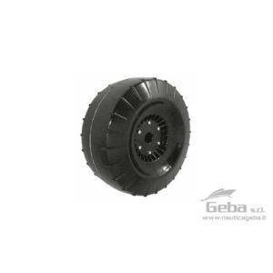 Ruote per carrelli uso sabbia. Complete di boccola perno 2530 mm. Peso 2,40 Kg.