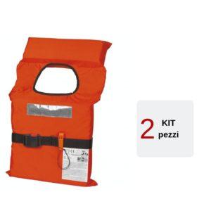 Kit-2-Giubbotti-Salvagente-Sicurezza-Salvataggio-100N-Omologati
