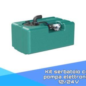 Kit serbatoio con pompa elettronica 12/24V
