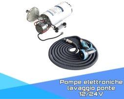 Pompe elettroniche lavaggio ponte 12/24V