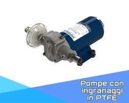 Pompe con ingranaggi in PTFE
