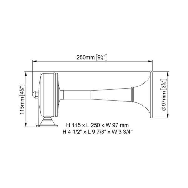 DUCK-tromba-inox-25-cm