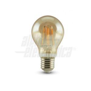 Lampada-a-filamento-led-bulbo-230Vac-E27-4,5W-Ambrata-Bianco-caldo