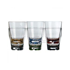 Bicchiere impilabile per acqua con base colorata per barca marine business