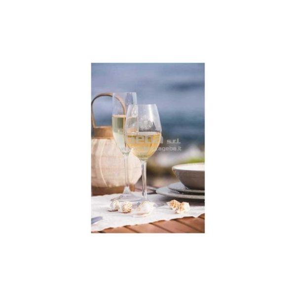 Calice da vino con decoro Bali in confezione da 6 pezzi. In Tritan garantito 100% per uso alimentare. Lavabile in lavastoviglie, infrangibile e anti-macchia.