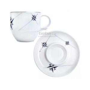 Set colazione tè melaminaNorthwind con piattino 6 pezzi e tazzina