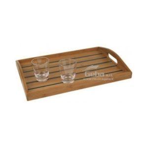 Vassoio portabicchieri in legno bamboo da barca nautica