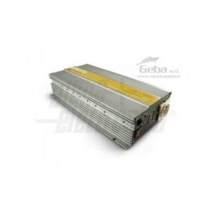Inverter Onda pura 1000W Ingresso 12Vdc, Uscita 230Vac di lato