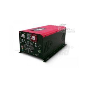 Inverter Onda pura con carica batteria 3000W Ingresso 12Vdc o 24Vdc, Uscita 230Vac fronte retro