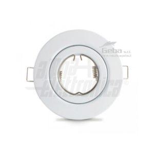 Supporto bianco per lampada led - ghiera orientabile - Ø109mm - Attacco NON incluso