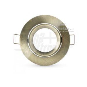Supporto bronzo per lampada led - ghiera orientabile - GU5,3 - Ø83mm