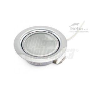 Supporto lucido da incasso per lampada led - metallico - G4