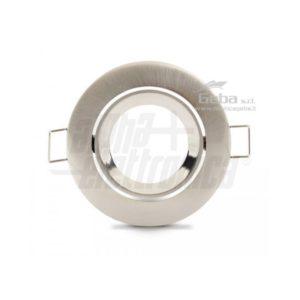 Supporto lucido per lampada led - ghiera orientabile - GU5,3 - Ø83mm