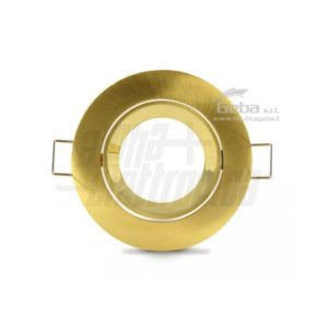 Supporto oro per lampada led - ghiera orientabile - Ø83mm - Attacco NON incluso per imbarcazioni