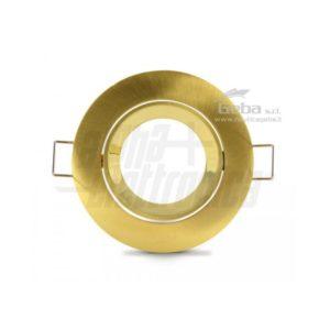 Supporto oro per lampada led - ghiera orientabile - GU5,3 - Ø83mm da barca