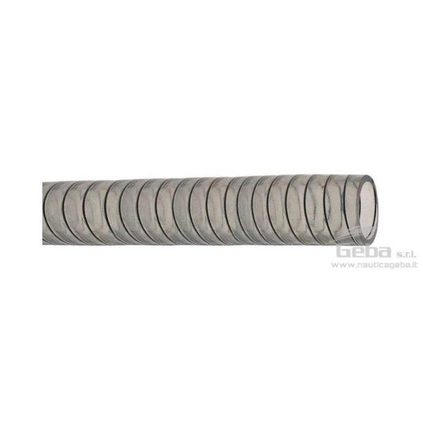 Tubo acqua per pompa di sentina in PVC spirale in Acciaio diametro 25