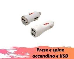 Prese e spine tipo accendino e USB