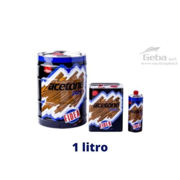 acetone liquido solvente diluente vernici pulizia barca nautica confezione 1L