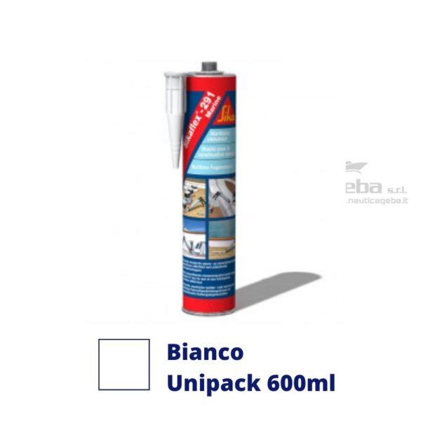 sigillante Sikaflex 291i adesivo interno barca uso nautica poliuretanico colore bianco unipack 600ml