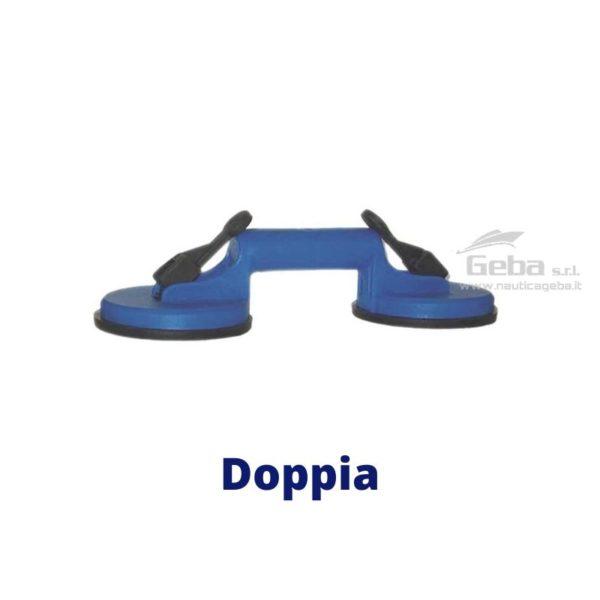 maniglia vacuum lifter ventosa a pressione doppia in plastica rinforzata in acciaio inox per agganciare sollevare scafo oggetti. Capacità di 40kg.