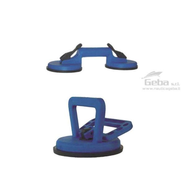 maniglia vacuum lifter ventosa a pressione singola e doppia in plastica rinforzata in acciaio inox per agganciare sollevare scafo oggetti. Capacità di 40kg.