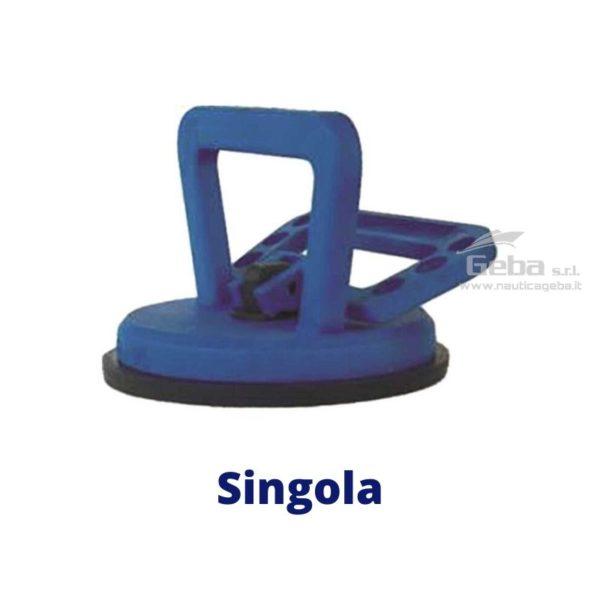 maniglia vacuum lifter ventosa a pressione singola in plastica rinforzata in acciaio inox per agganciare sollevare scafo oggetti. Capacità di 40kg.