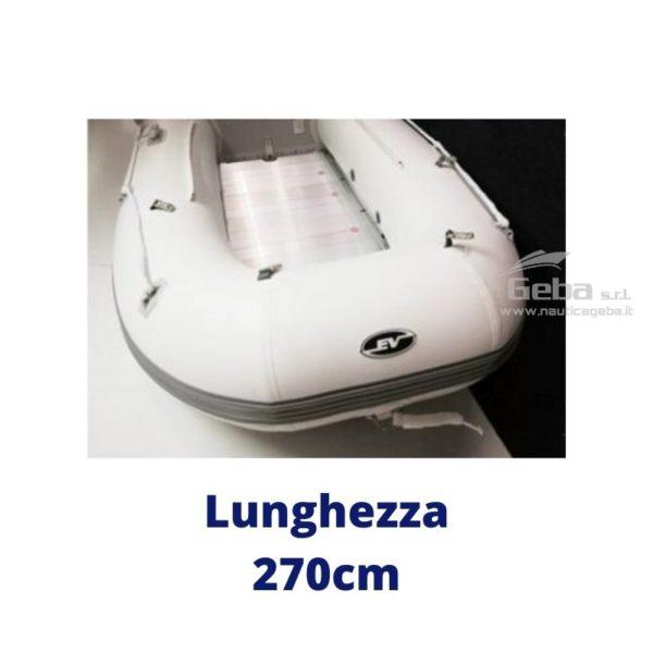 tender barca ripiegabile riponibile eurovinil nautico, da pesca e trasporto persone. Disponibile acquisto online. Lunghezza 270cm.