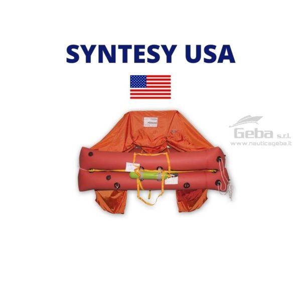 zattera salvataggio stati uniti bandiera USA modello eurovinil international gonfiabile barca nautica gommone vela omologata stati uniti, usa, mare