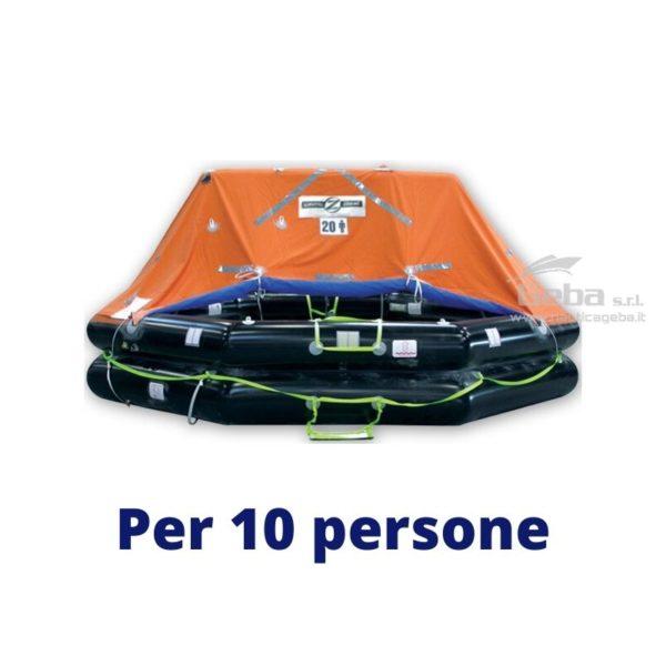 zattera salvataggio yacht modello Zodiac XtremLPC Eurovinil. Gonfiabile da barca, nautica, omologata tutte bandiere. Acquisto online. Modello 10 persone.