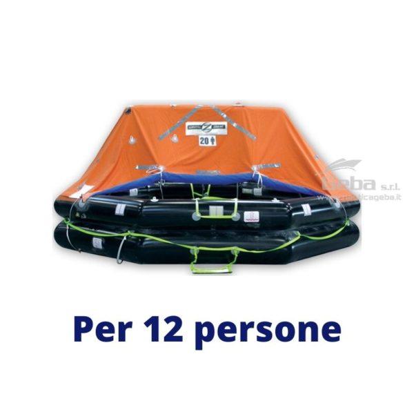 zattera salvataggio yacht modello Zodiac XtremLPC Eurovinil. Gonfiabile da barca, nautica, omologata tutte bandiere. Acquisto online. Modello 12 persone.