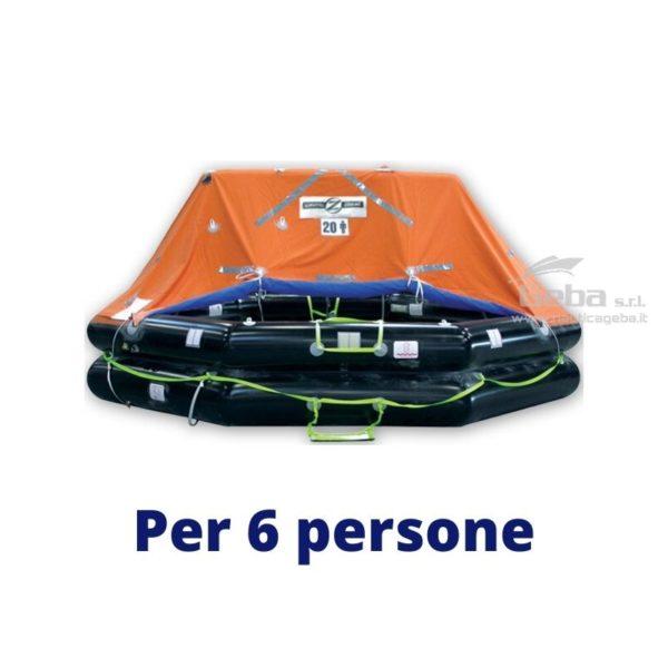 zattera salvataggio yacht modello Zodiac XtremLPC Eurovinil. Gonfiabile da barca, nautica, omologata tutte bandiere. Acquisto online. Modello 6 persone.