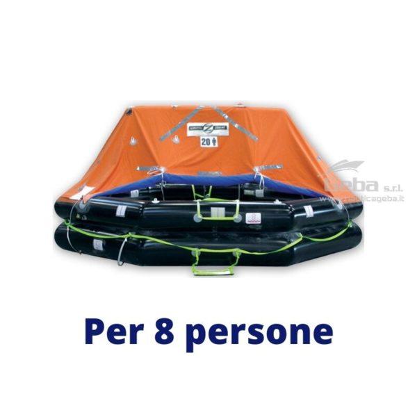 zattera salvataggio yacht modello Zodiac XtremLPC Eurovinil. Gonfiabile da barca, nautica, omologata tutte bandiere. Acquisto online. Modello 8 persone.