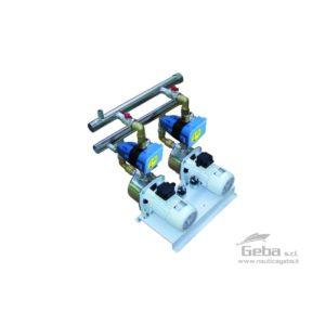 Gruppi di pressione doppi orizzontali con controllo elettronico EPC GDE-J • GDE-MG • GDE-JBR nautica