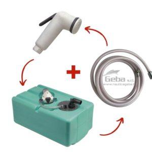 Set serbatoio acqua completo di pompa autoclave più doccetta e tubo standard 12v o e 24v