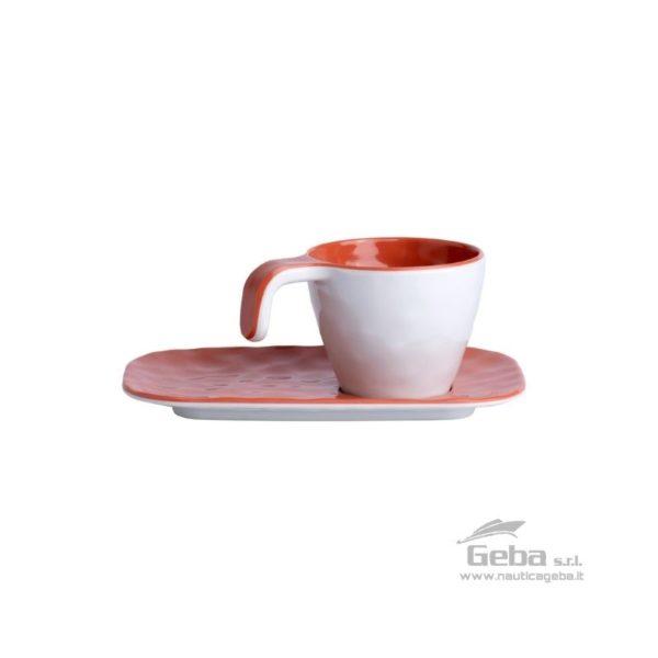 Set tazzina da caffè barca piattino melamina Summer
