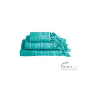 Set asciugamani da barca ANCHORS SANTORINI – ACQUA